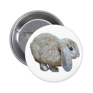 Holland Lop Ear Rabbit Button