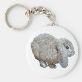 Holland Lop Ear Rabbit Keychain