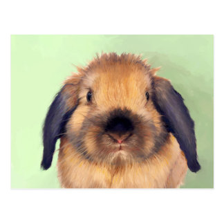 Holland Lop Easter Postcard