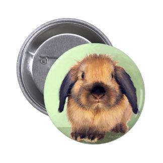 Holland Lop Pinback Button