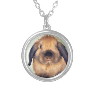 Holland Lop Silver Plated Necklace