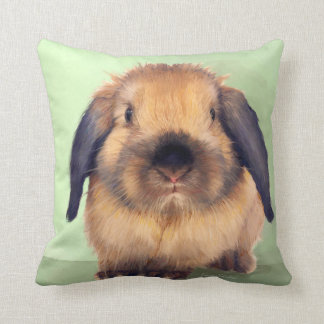 Holland Lop Throw Pillow