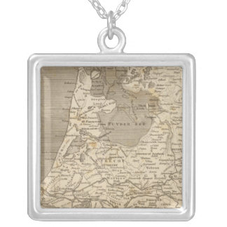 Holland Map by Arrowsmith Square Pendant Necklace