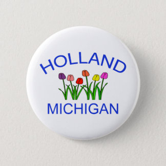 Holland, MI - w/Tulips Pinback Button