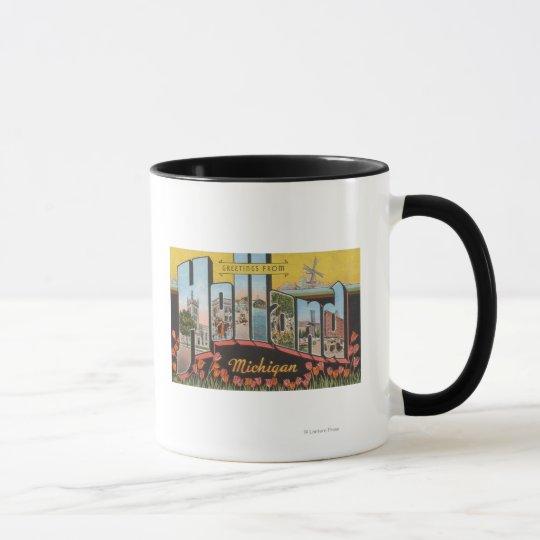 Holland, Michigan - Large Letter Scenes Mug