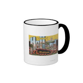 Holland, Michigan - Large Letter Scenes Ringer Mug