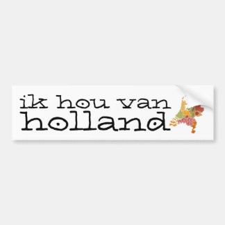 Holland Province Map Bohemian Patchwork Style Bumper Sticker