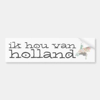 Holland Province Map Geometric Patchwork Style Bumper Sticker
