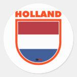 Holland Round Stickers