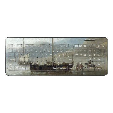 Beach Themed Holland Sailboat Fishing Boats Beach Sea Keyboard