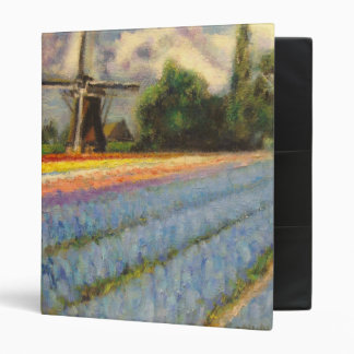 Holland Spring Flower Fields Landscape Painting Binder
