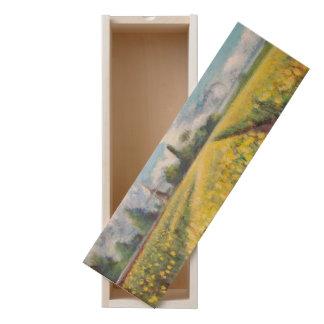 Holland Spring Tulip Time Fields Painting Artwork Wooden Keepsake Box