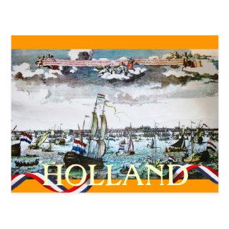 Holland Trade Ships Sailing Postcard
