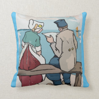 Holland Travel, Dutch Couple Throw Pillow