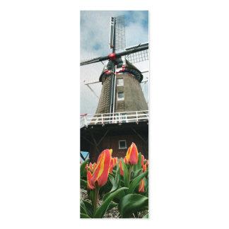 Holland Tulip Time Windmill Mini Business Card