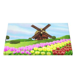 Holland Tulips Canvas Prints