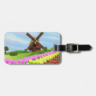 Holland Tulips Tags For Bags