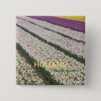 Holland Tulips Square Button
