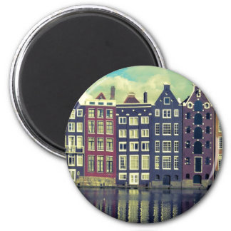 Holland vintage houses 2 inch round magnet