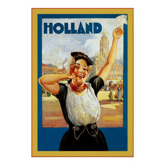 Holland  ~ Vintage Travel Poster