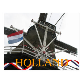 Holland Windmill and Dutch Flag Party Postcard