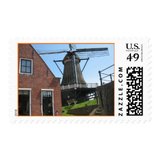 Holland Windmill and Dutch House Post Stamps