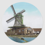 Holland Windmill Classic Round Sticker