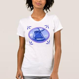 Holland Windmill Delft-Blue-Tile-Look T-Shirt