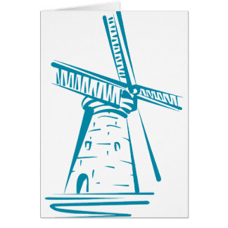 Holland Windmill in Blue Card