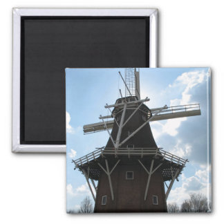Holland Windmill Silhouette Fridge Magnet