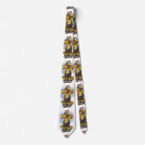 Holland windmill travel poster neck tie