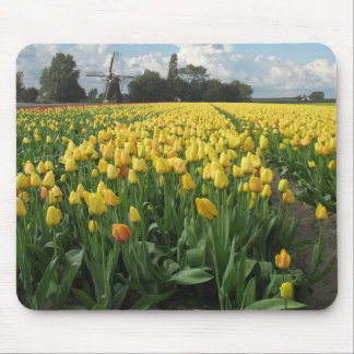 Holland Windmill Tulips Mouse Pad