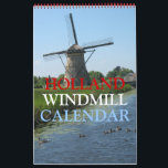 """Holland Windmills Calendar<br><div class=""""desc"""">Holland Dutch Windmill Photo Calendar with beautiful windmill photography from all over Holland (The Netherlands) for every month January - December. This unique Dutch windmill calendar is fully customizable, add your text and images! A beautiful Holland photo calendar souvenir gift idea for Holland windmills enthousiasts, people of Dutch heritage/ decent...</div>"""