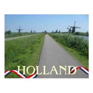 Holland Windmills Postcard
