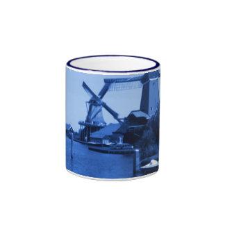 Holland Zaandijk Windmills Delftware-Delft-Blue Ringer Coffee Mug
