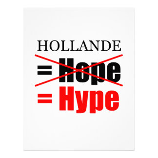 Hollande Not Hope but Hype - Letterhead
