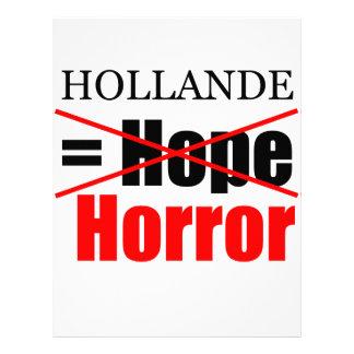 Hollande Not Hope = Horror - Letterhead