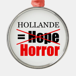 Hollande Not Hope = Horror - R Ornament