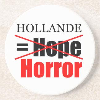 Hollande Not Hope = Horror - Round Coaster