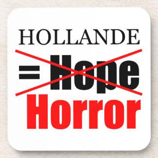 Hollande Not Hope = Horror - Square Coaster