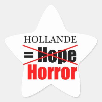 Hollande Not Hope = Horror - Star Sticker