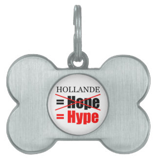 Hollande Not Hope  = Hype !!!!!!!!!!! Pet Name Tag