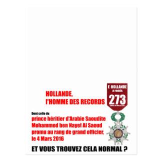 Hollande Record Legions d'Honneur - V Postcard
