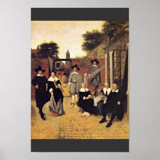 Holländische Family By Hooch Pieter De Print