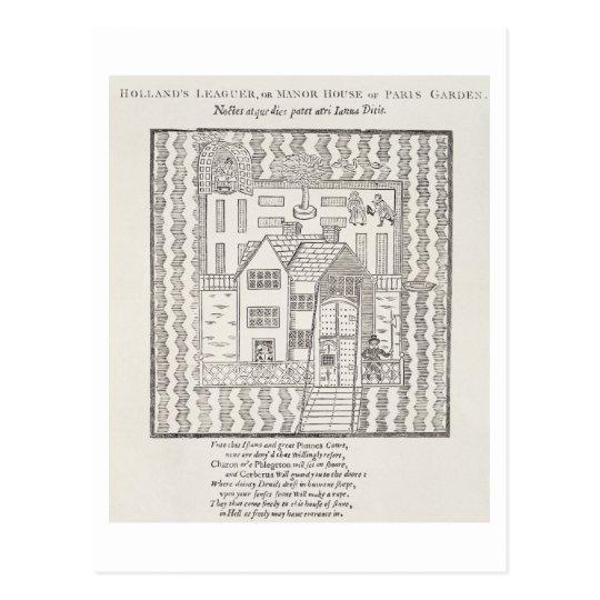 Holland's Leaguer, or Manor House, of Paris Garden Postcard