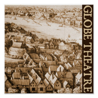 Hollar s Globe Theatre Long View of London Poster