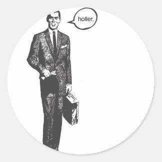 Holler Classic Round Sticker