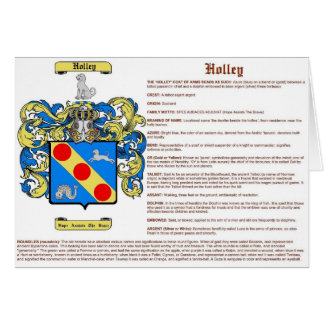 Holley (meaning) card