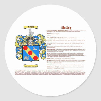 Holley (meaning) classic round sticker