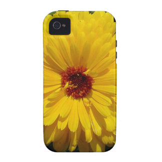 Holligold Blossoming Yellow Pot Marigold Flower Case For The iPhone 4